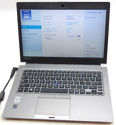 "No Adapter Toshiba Portege Z30-B 13.3"" Core i5 5300U 2.3GHz 8GB Laptop Web Cam"