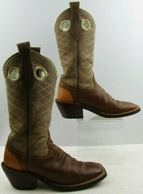 c0fd71453f8 MENS TONY LAMA Brown Suede/ Leather Western Boots Size: 8.5D