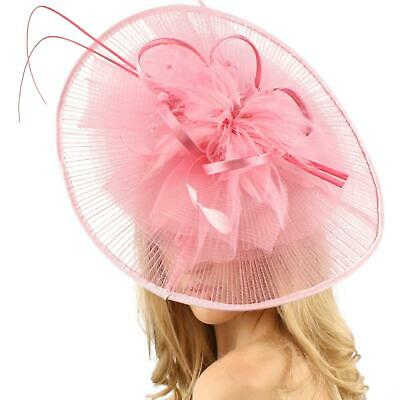 HA050n cotton unglued net airhostess shaped fascinator base for covering