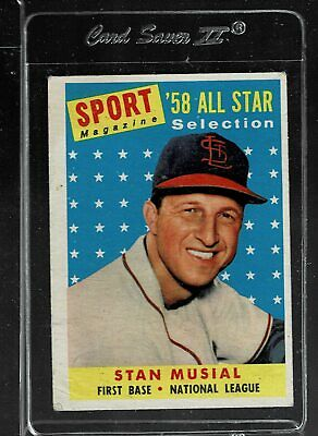 1958 Topps Baseball #476 - STAN MUSIAL All Star - EX      (JF)