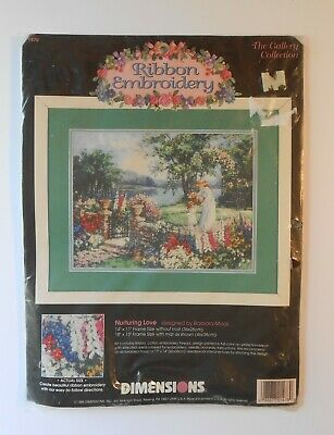 NURTURING LOVE 1995 Dimensions Ribbon Embroidery Kit #1478