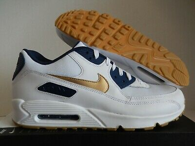 sale retailer aeb92 98c92 Nike Air Max 90 Id White-Navy Blue-Gold Usa Olympic Sz 14 Mesh