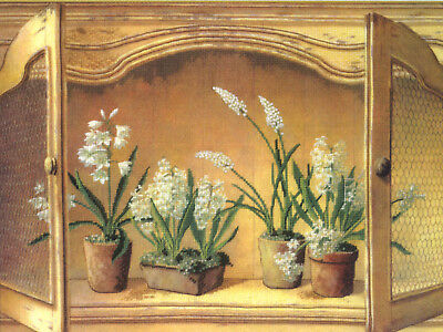 Embellished Cross Stitch Kit Candamar French Cupboard Hyacinths #51432 OOP SALE!