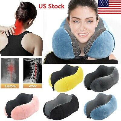 Travel Memory Foam Rebound U -Shaped Pillow Neck Support Head  Car Cushion