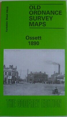 OLD ORDNANCE SURVEY  MAPS OSSETT YOURKSHIRE 1890 Godfrey Edition