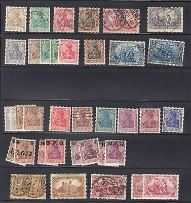 Germany 3 Stock Pages Collection Lot Early Issues All Appear To Be Sound