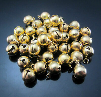 Bells 11X8mm 50pcs Pendants Copper Bells Jingle Beads Findings Christmas Golden