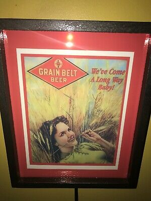 Grain Belt Pin-Up Girl Beer Bar Tavern Man Cave Lighted Advertising Sign