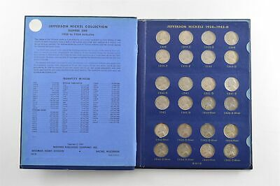 COMPLETE 1938-63 Jefferson Nickels Collection SILVER War 1950-D Nice Album *682