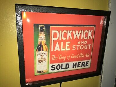 Pickwick Ale Beer Tavern Bar Man Cave Advertising Lighted Sign