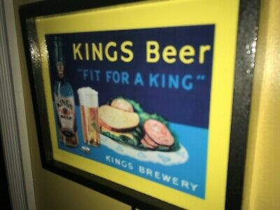 King's Brewery Beer Tavern Bar Man Cave Advertising Lighted Sign