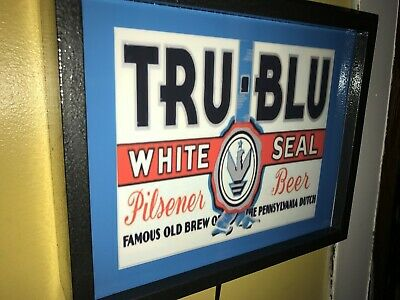 Tru Blu Pennsylvania Beer Tavern Bar Man Cave Advertising Lighted Sign
