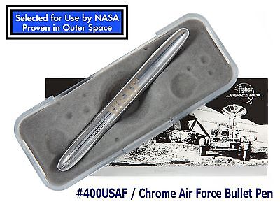 Fisher Space Pen #400USAF / Chrome US Air Force Word Bullet Pen
