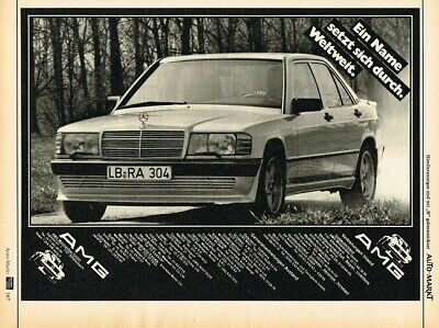 1984 AMG Mercedes-Benz W201 190 (DE, 1pg.) Advertisement
