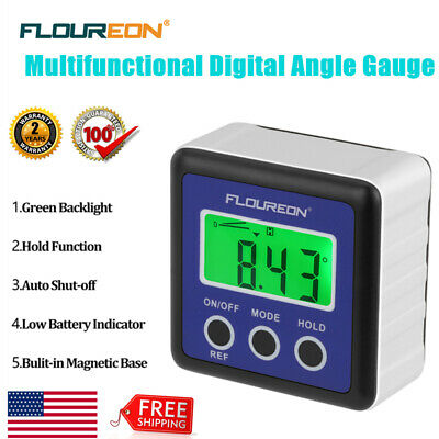 LCD Digital Bevel Box Gauge Angle Finder Protractor Inclinometer Level Box Meter