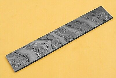 """10 inch ' 2.25 inch"""" 7MM THICKNESS' HAND FORGED DAMASCUS STEEL BILLET BAR  Q-294"""