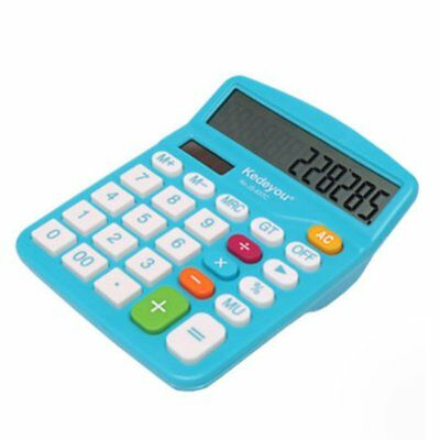 Fashionable Office  Large Screen Color Solar Calculator dk