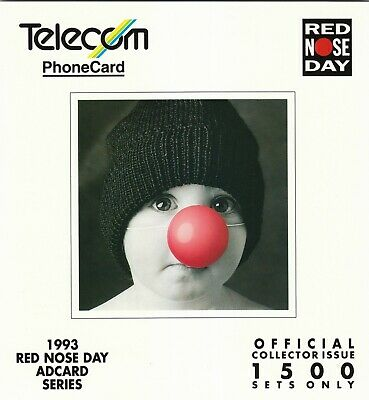 New Zealand 1993 Red Nose Day Adcard Telecom phonecard pack NZ137079