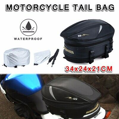 Motorcycle Touring Rear Pillion Seat Tail Bag Luggage Expandable Easy Carry AU