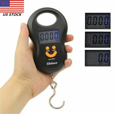110 lb. Digital Luggage Scale Hand Held Checked  Baggage Bag Carry On LCD