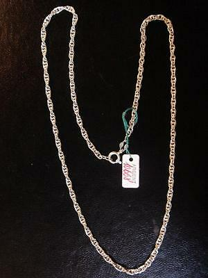 Chain in Sterling Silver Medium Knit Long 45 cm Vintage New