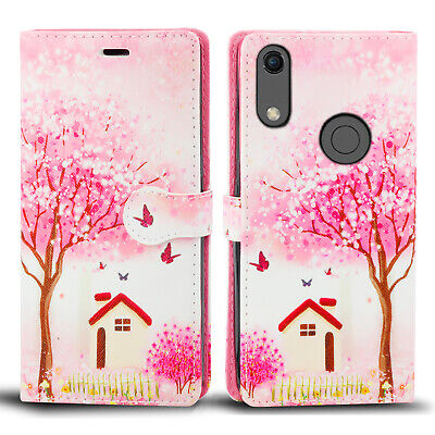 For Huawei Y6 2019 Protective Wallet PU Leather Magnetic Flip Folio Case Cover