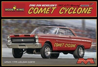 Moebius 1238 Dyno Don Nicholson's 1965 A/FX Mercury Comet Cyclone model kit 1/25