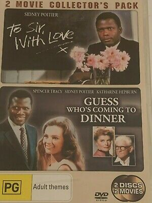 To Sir With Love + Guess Who's Coming To Dinner 2 Disc Set DVD Brand New