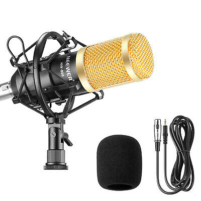 Neewer NW-800 Studio Broadcasting Recording Condenser Microphone Shock Mount Kit