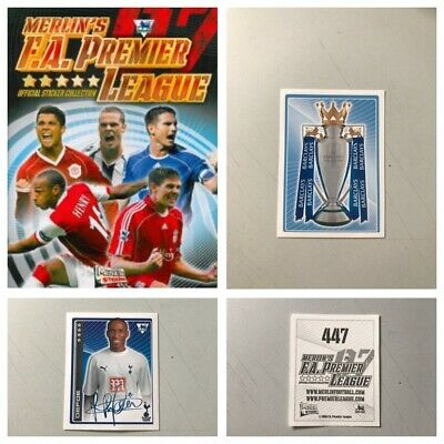 Merlin Premier League 2007 individual Stickers. 1, 2, 3, 4, 5,10,15,25 available