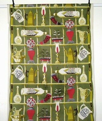 """Unused Vintage Early 1900's~ ANTIQUE WINDOW ~ Cotton Fabric Panel Size 52"""" x 36"""""""