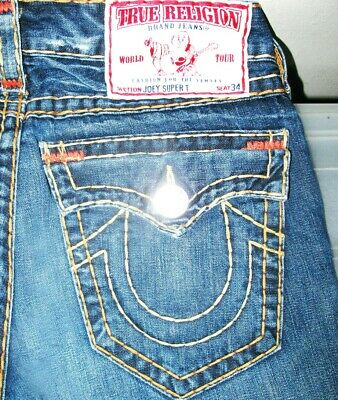 e01a81f60  HOT AUTHENTIC Men TRUE RELIGION   JOEY SUPER T -YW FLARE BOOTCUT Jeans 31