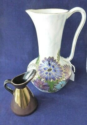 Vintage Oldcourt lustre vase and mini Beswick pottery pitcher ##OAD70BS