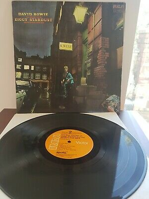 David Bowie Rise & Fall of Ziggy Stardust Spiders LP Vinyl 1972 SF8287 APRS6815