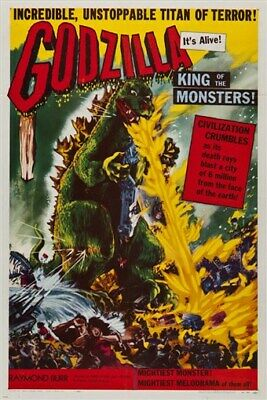 classic movie poster GODZILLA - KING OF THE MONSTERS animated cartoon 24X36