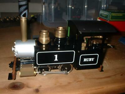 Live Steam Gauge 1 Accucraft Ruby Tank Engine Gas Fired Never Steamed Superb