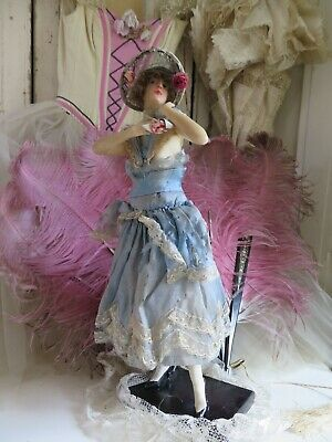 Antique Flapper WAX Fashion Doll Mannequin Wachs Puppe Boudoir Teepuppe Austria