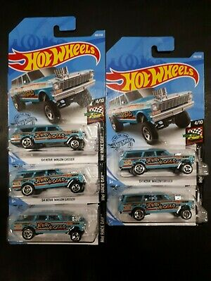Hotwheels 2019 HW Race Day '64 Nova Wagon Gasser lot of 5 Jerry Rigged RARE