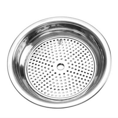 Sliver Dish Round Plate Double Layer Draining Bowl Tray Kitchen Cookware LD
