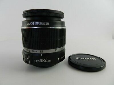 Canon Zoom EF-S 18-55mm 1:3.5-5.6 IS Lens Image Stabilizer Black Photography.