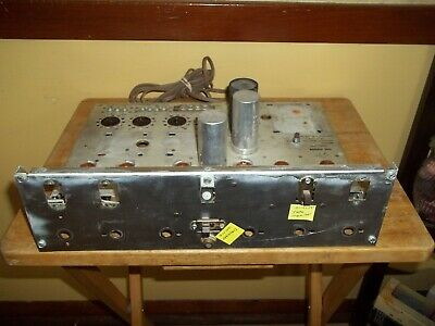 Vintage The Fisher Model X-100-B Tube Amplifier Chassis (Partial)