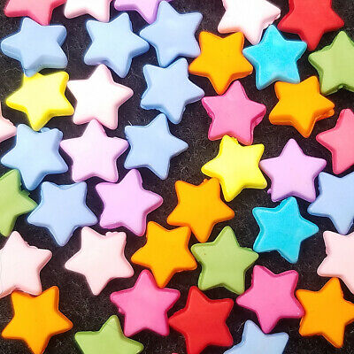 Star bulk 9mm Charms Spacer Lot colors Loose 100PCS NWT Beads Acrylic FREE Mixed