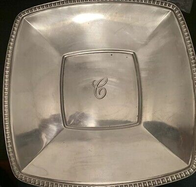 Vintage Tiffany & Co Makers Sterling Silver HEAVY 10.5 Platter Tray Bowl 65990