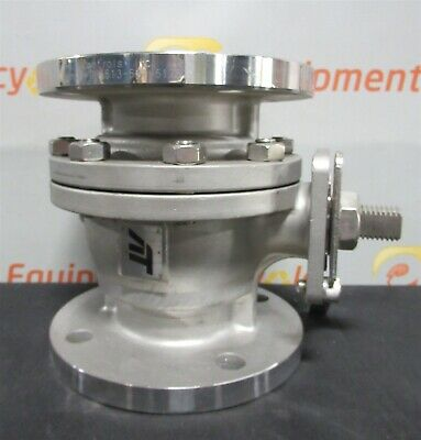 """A-T Controls 90-FT Stainless Steel Split Flanged Flange Ball Valve 2"""" Class 150"""