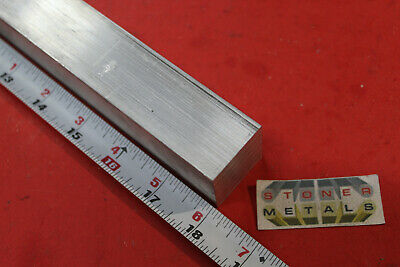 "1-1/4"" X 1-1/4"" ALUMINUM SQUARE 6061 SOLID EXTRUDED BAR 18"" long T6511 1.25""SQ"