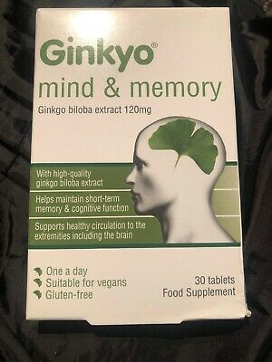 Ginkyo Mind and Memory 120mg 30 tablets  EXP 06/2021