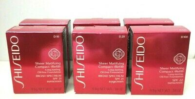 SHISEIDO Sheer Matifying Compact (REFILL) Foundation 0.34 oz BOX PICK YOUR SHADE