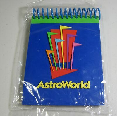 32fdc82cce67 Astroworld Six Flags Houston Souvenir Spiral Notepad New Sealed