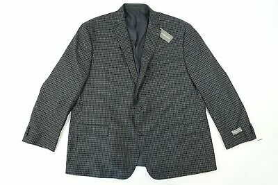 Michael Kors Check Blue Gray 52 Regular Blazer Sport Coat Jacket Mens Nwt New