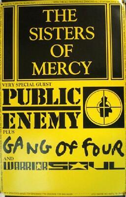 Sisters Of Mercy Public Enemy Gang Of Four Concert Poster Original
